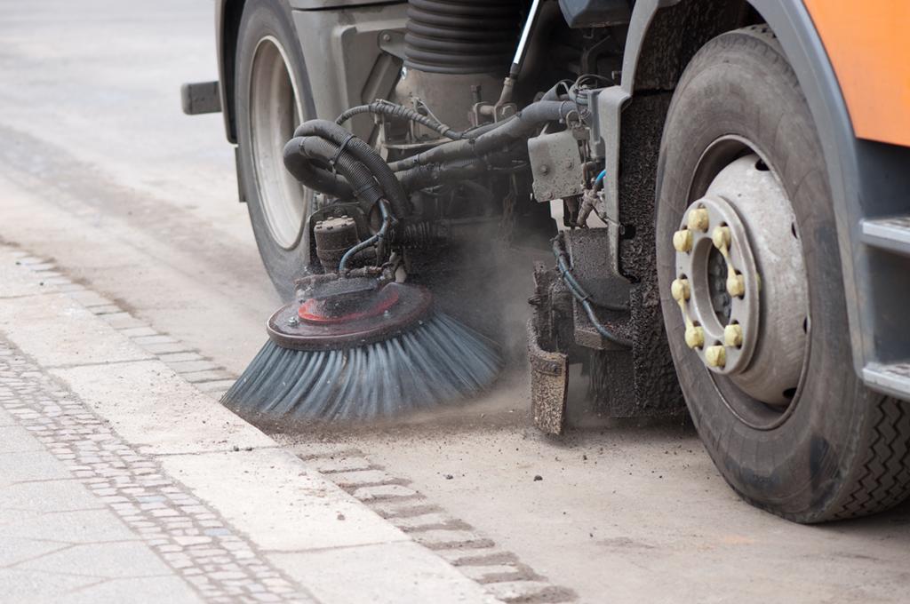 Nashville Gutter Broom Street Sweeping Photo