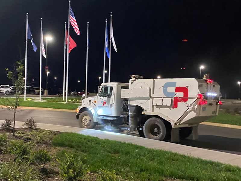 Nashville's official sweeping company truck photo